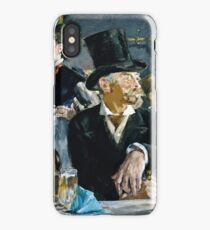 Edouard Manet - At the Cafe ( 1879)  iPhone Case/Skin