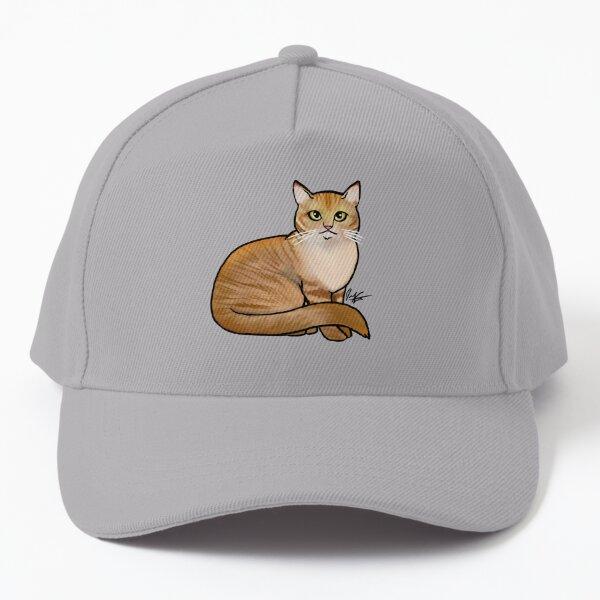 Seated Orange Tabby Cat Baseball Cap