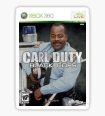 Carl on Duty: Black Cops Sticker