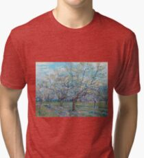 Vincent Van Gogh - Orchard With Blossoming Plum Trees, 1888 Tri-blend T-Shirt