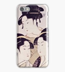 Kitagawa Utamaro  -  Three Beauties Of The Present Day  iPhone Case/Skin
