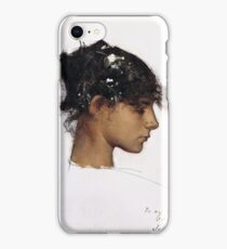 John Singer Sargent - Head Of A Capri Girl  iPhone Case/Skin