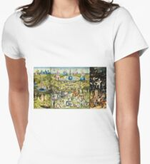 Hieronymus Bosch - The Garden Of Earthly Delights 1515  Womens Fitted T-Shirt
