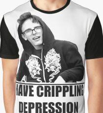 I Have Crippling Depression IDubbbzTV Graphic T-Shirt