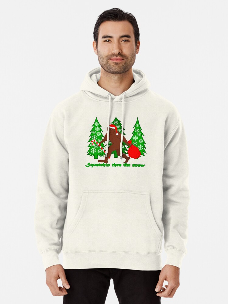 Funny Cool Outwear Christmas Tree Snow Pullover Hooded Sweatshirts for Boys Mens
