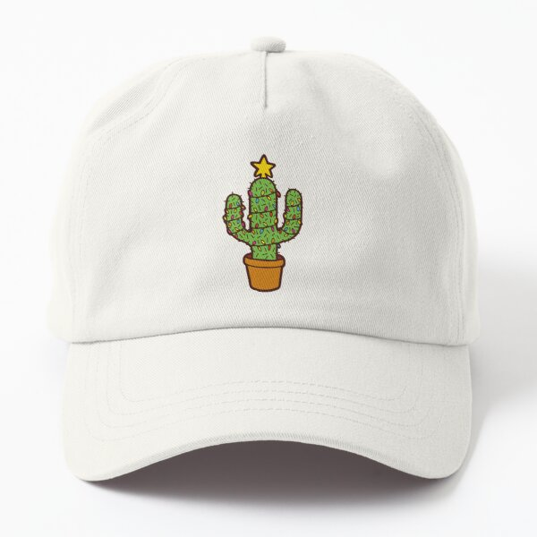 Cactus Christmas Tree in Red Dad Hat