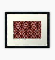 The Shining - Carpet pattern  Framed Print