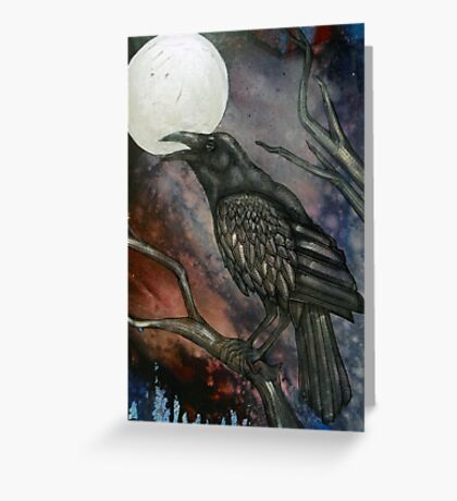 Full Crow Moon Greeting Card