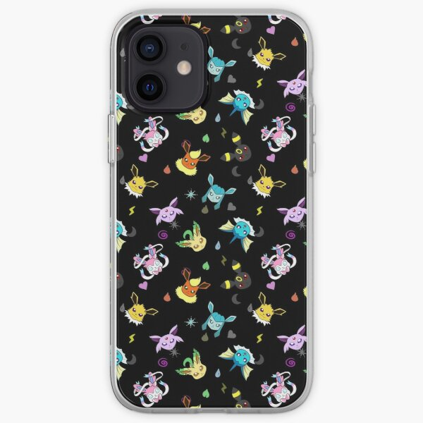 Eeveelution type pattern iPhone Soft Case
