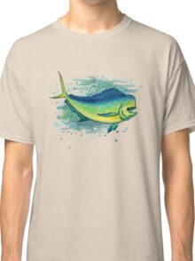Mahi Mahi Splash ~ Watercolor Classic T-Shirt