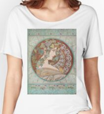 Alphonse Mucha - Ivy, 1901  Women's Relaxed Fit T-Shirt
