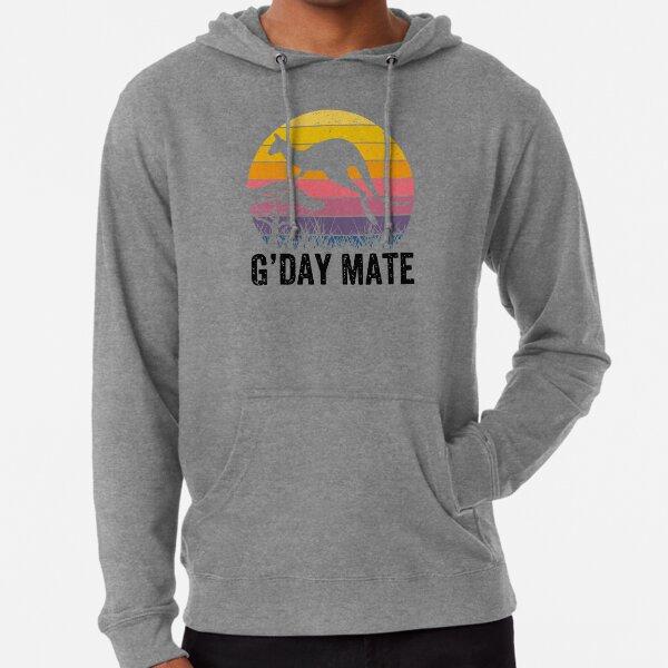 Australia G'Day Mate Shirt Funny Kangaroo Australian Symbol  Lightweight Hoodie