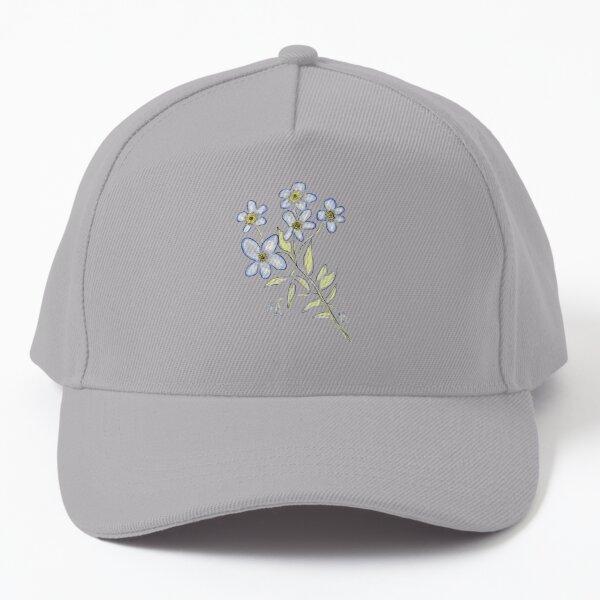 Digital Watercolour Forget-Me-Nots Baseball Cap