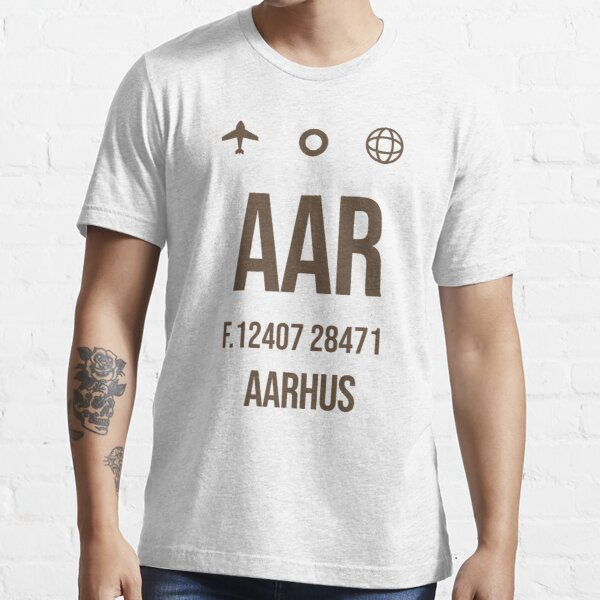 Aarhus Airport Vintage Luggage Tag - Gift Idea For Traveller Essential T-Shirt