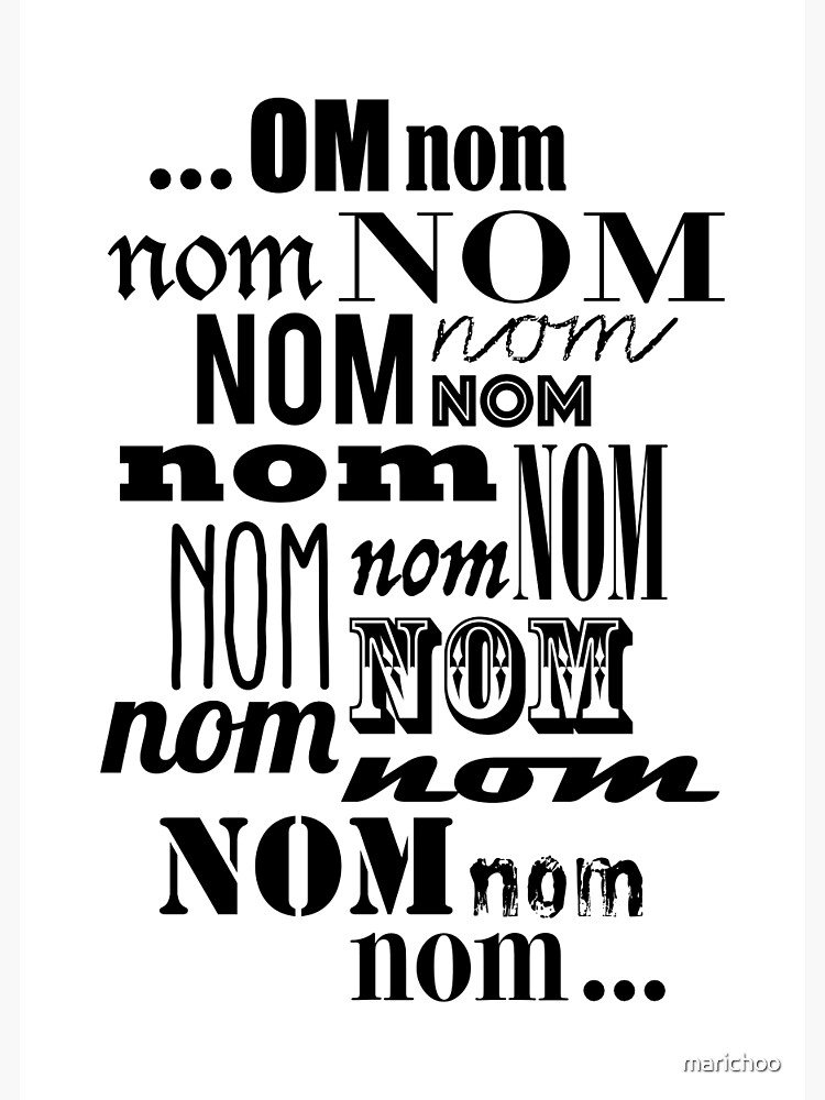 Om Nom Nom by marichoo