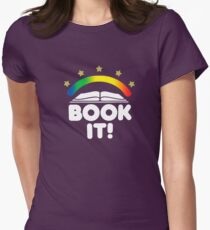 BOOK IT BADGE Women's Fitted T-Shirt