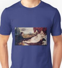 Tiziano Vecellio, Titian - Venus with the Organ Player (around 1550)  Unisex T-Shirt