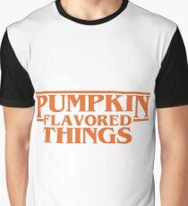 Pumpkin Flavored Things Graphic T-Shirt
