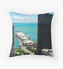 Chicago IL Navy Pier If you like, please purchase, try a cell phone cover thanks Throw Pillow