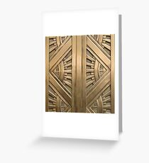 Art deco,vintage,elegant,chic,1920 era,bronze,beautiful,the great gatsby Greeting Card