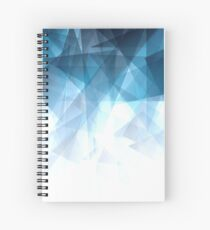 Ice Blue Fractals Spiral Notebook
