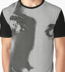 Black and grey portrait Graphic T-Shirt