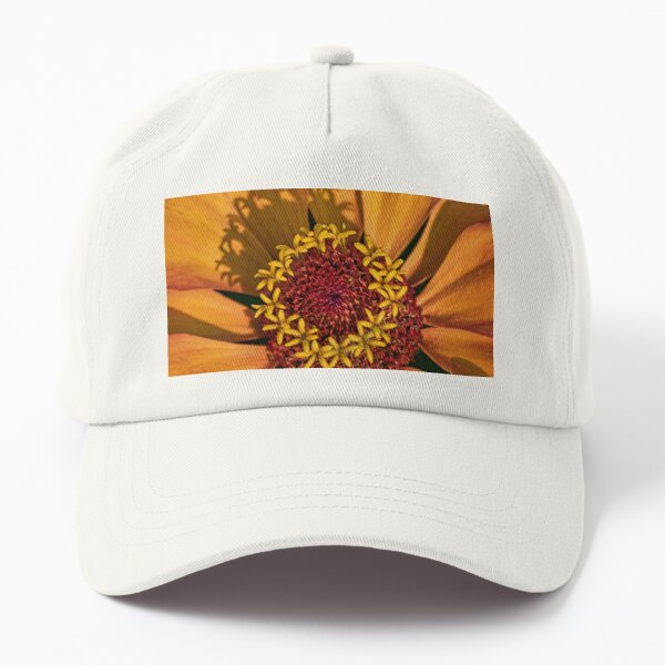 At the Heart of a Zinnia on a Sunny Day Dad Hat