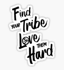 Find Your Tribe - BDSM Triskelion BLACK Sticker