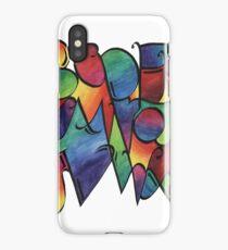 Rainbow calligraphy alphabet iPhone Case/Skin