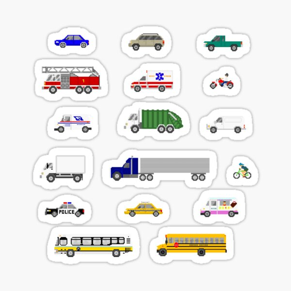 Street Vehicles - The Kids' Picture Show Sticker