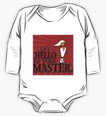 Say HELLO to your MASTER. -Red- One Piece - Long Sleeve