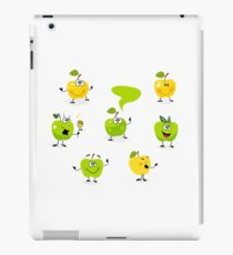 Funny green Apple fruit characters iPad Case/Skin