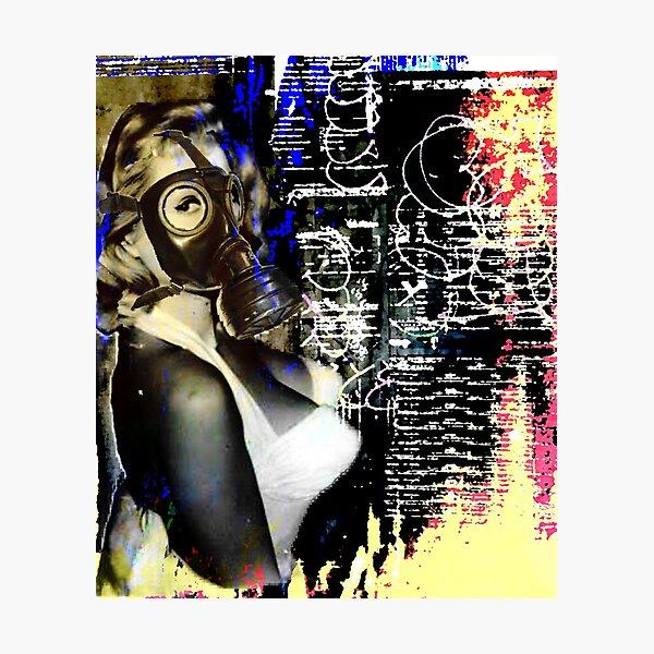 Gas-mask girl | Pop art | Street-art aesthetics Photographic Print