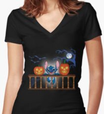 48b5f355 Halloween Stitch Fitted V-Neck T-Shirt
