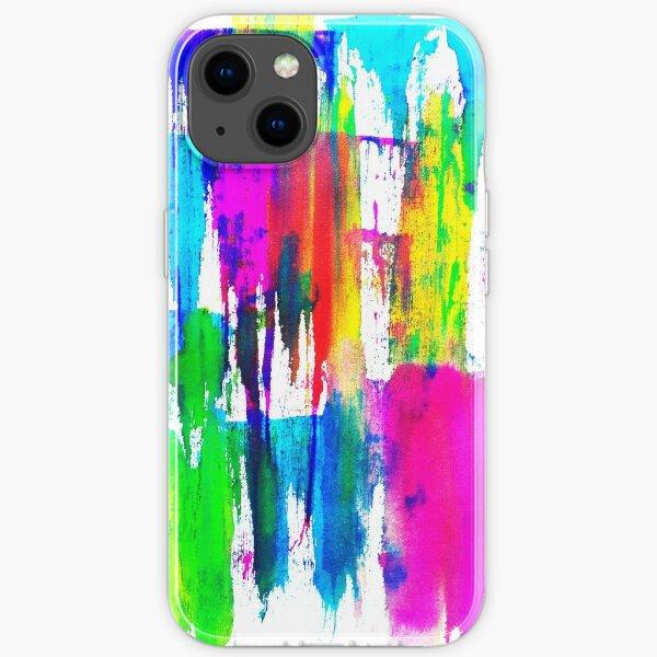Neon CMYK iPhone Flexible Hülle