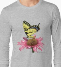 Swallowtail and Coneflower Long Sleeve T-Shirt