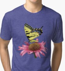 Swallowtail and Coneflower Tri-blend T-Shirt