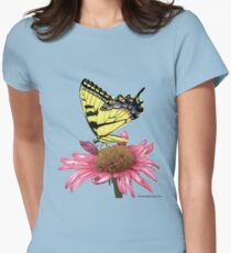 Swallowtail and Coneflower Women's Fitted T-Shirt