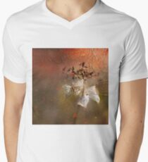 The Abstract World of Flowers Mens V-Neck T-Shirt