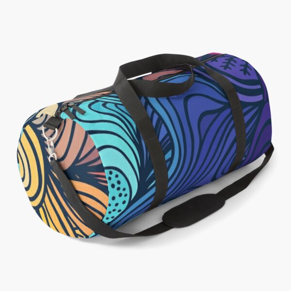 colourful flowers summer colorful background modern pattern Duffle Bag