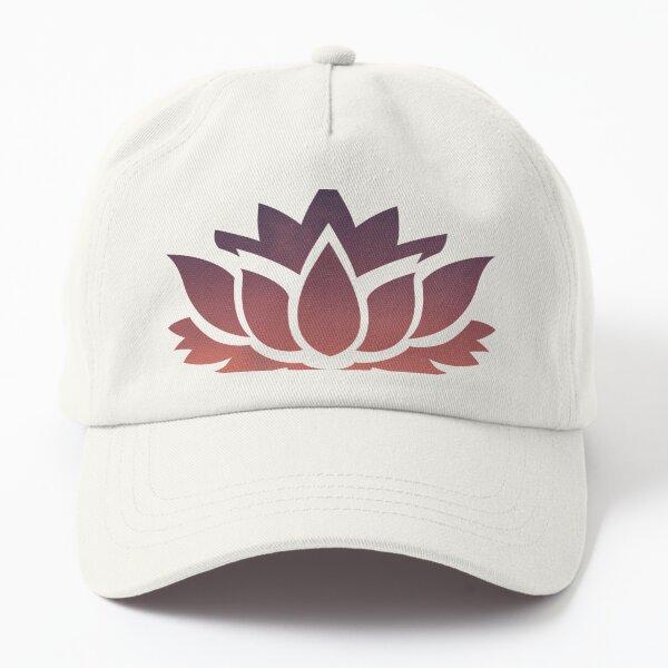 Pink Lotus Flower Large Dad Hat