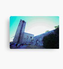 Shot tower, La Tortilla lead smelter, Linares, Spain Canvas Print