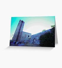 Shot tower, La Tortilla lead smelter, Linares, Spain Greeting Card