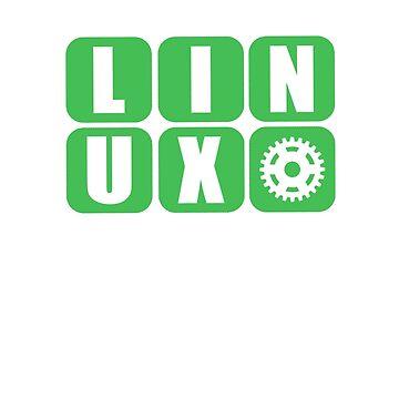 Linux Grid Design Gear I by Koniii