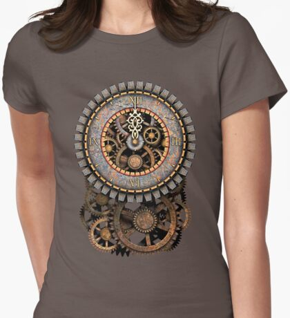 Vintage Steampunk Clock (Stopped at Midnight!...OO-Er!!) Steampunk T-Shirts T-Shirt