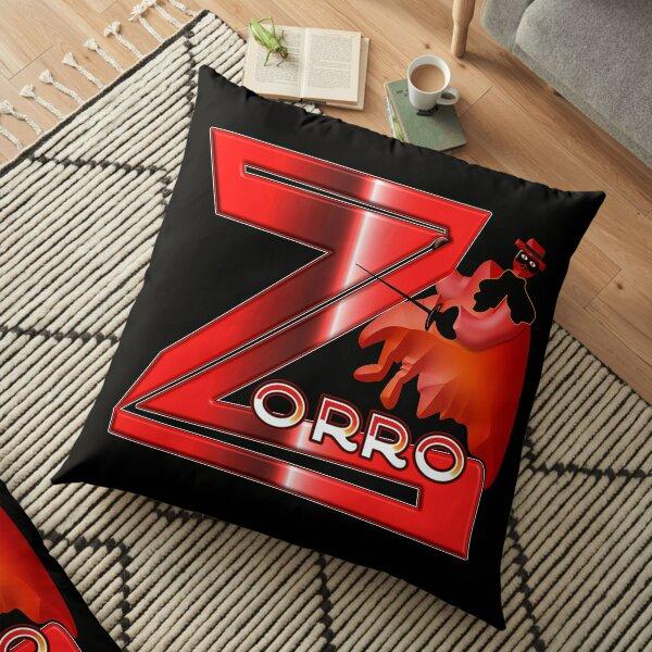 Zorro, audacious acrobat and smart as a fox Floor Pillow