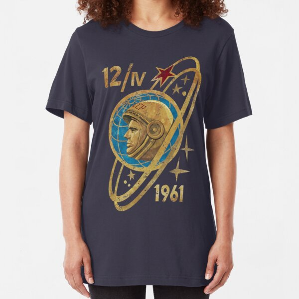 CCCP Yuri Gagarin 12-4-1961 Slim Fit T-Shirt