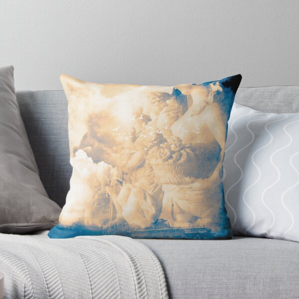 Greek Blues Throw Pillow