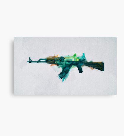 CS:GO AK-47 Fire Serpent Canvas Print