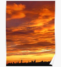 New York City Sunset Poster